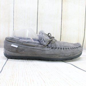 LL BEAN Wicked Good Mocs Lined Slippers Size 11